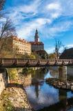 Beautiful view to medieval castle in Cesky Krumlov Stock Image