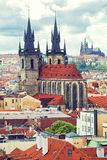 Beautiful view to Prague Stock Photography