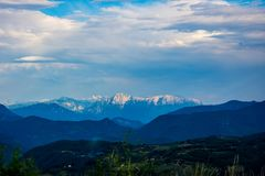 Beautiful Prenj mountain in Prozor city. Beautiful view to the Prenj mountain in the Prozor, Bosnian city Royalty Free Stock Photo