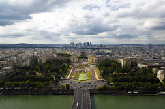 Beautiful view from the top of the bridge over the Seine, royalty free stock photos