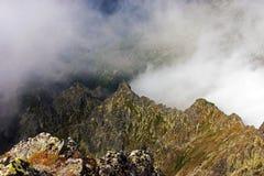 Beautiful view from the top of Krivan Peak Stock Image