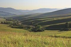 Beautiful view from the top of pass Biryuksinsky Royalty Free Stock Photo