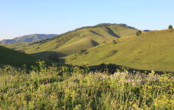 Beautiful view from the top of pass Biryuksinsky Royalty Free Stock Photos