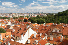 A beautiful view from the top of the Prague House Royalty Free Stock Photo
