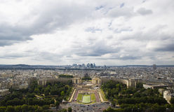 Beautiful view of the top of the Trocadero Gardens, Palais de Ch stock images