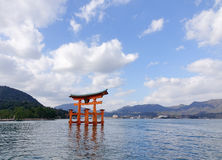 Beautiful view of Torii gate in Miyajima, Japan Royalty Free Stock Photography
