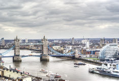 Beautiful view of the tower bridge of London Royalty Free Stock Photography