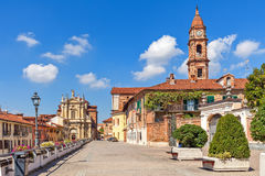 Beautiful view of town of Bra in Piedmont, Italy. Stock Images