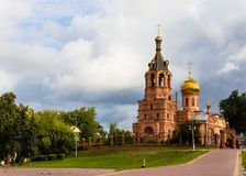 Beautiful view of Trinity Cathedral in the city of Ramenskoye, M Stock Photography