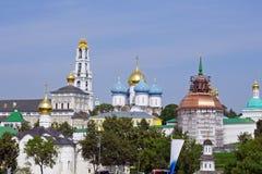 Trinity Sergius Lavra in Sergiev Posad, RUSSIA. stock photos