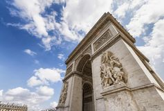 Beautiful view of Triumph Arc in a summer day.  Stock Photos