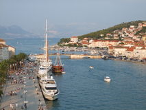 Beautiful view of Trogir Stock Images