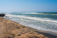 Beautiful view of  tropical the coast Varkala, Kerala. India Royalty Free Stock Images