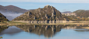 Beautiful view of Turano lake, Lazio Stock Photography
