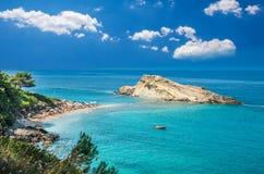 Turkopodaro Beach, Kefalonia Islands , Greece. Beautiful view of Turkopodaro Beach on Kefalonia, Ionian Islands, Greece Royalty Free Stock Image