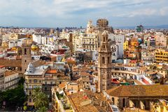 Beautiful view of Valencia from the tower Torre del Miguelete Royalty Free Stock Images