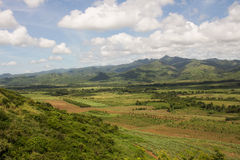 A beautiful view of the Valle de los Ingenios. A view of the Valle de los Ingenios in Trinidad (Cuba Royalty Free Stock Photography