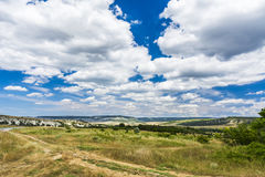 Beautiful view of valley. The central part  the Crimean. Royalty Free Stock Images