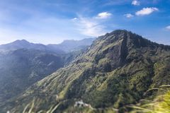 Beautiful view at valley from Little Adam Peak. stock photo