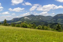 Beautiful view on Velky Choc, Slovakia.  royalty free stock image