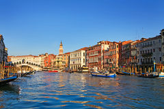 Beautiful view of Venice and Rialto Bridge Royalty Free Stock Photos