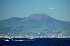 Beautiful view of vesuvius volcano, campania, italy Stock Images