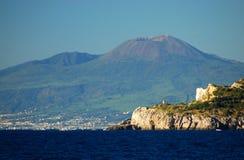 Beautiful view of vesuvius volcano, campania, italy Royalty Free Stock Photography