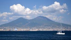 Beautiful view of vesuvius volcano, campania, italy Stock Image