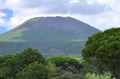 Beautiful view of vesuvius volcano, campania, italy Stock Photos