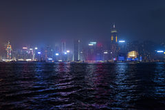 Beautiful view of Victoria harbor in Hong Kong Royalty Free Stock Photos