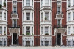 Victorian building in london. A beautiful view of victorian building in the center of London Royalty Free Stock Images