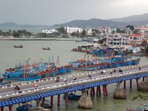 Beautiful view, Vietnam. Nha Trang is a coastal city on the South Central Coast of Vietnam stock images
