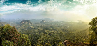 Beautiful view from the viewpoint on the mountain Royalty Free Stock Photo