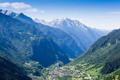 Beautiful view of the village the Alps Royalty Free Stock Images