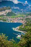 Beautiful view of a village Nago-Torbole royalty free stock photo