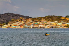Beautiful View of Village on Sumbawa-Indonesia Royalty Free Stock Images