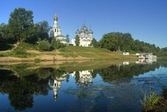 Beautiful view of Vologda Royalty Free Stock Photos