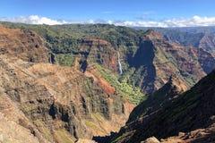 Waimea canyon on Kauai, Hawaii stock images