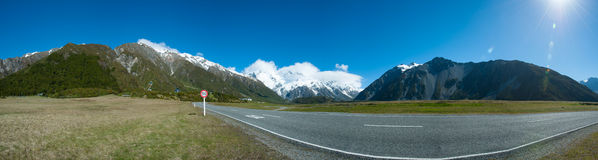 Beautiful view during walk to glacier in Mount Cook, South Island, New Zealand Royalty Free Stock Photo