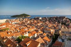 Beautiful view from the walls in Dubrovinik. Croatia Stock Photo
