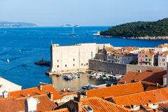 Beautiful view from the walls in Dubrovinik. Croatia Royalty Free Stock Images