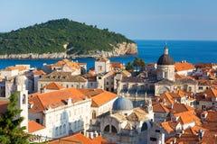 Beautiful view from the walls in Dubrovinik. Croatia Stock Image