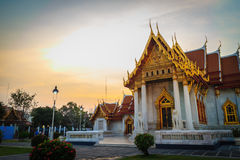 Beautiful view of Wat Benchamabophit Dusitvanaram, also known as stock image