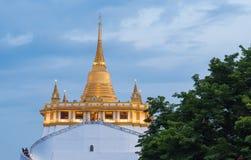 Golden Mount. Beautiful view of Wat Saket Ratcha Wora Maha Wihan Wat Phu Khao Thong, Golden Mount temple, a popular Bangkok tourist attraction and has become one Stock Photos