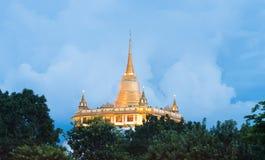 Golden Mount. Beautiful view of Wat Saket Ratcha Wora Maha Wihan Wat Phu Khao Thong, Golden Mount temple, a popular Bangkok tourist attraction and has become one Stock Images