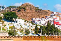 Beautiful view of white color medina o the Tetouan city, Morocco, Africa. Beautiful view of white color medina o the Tetouan city, Morocco in Africa stock image