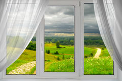 A beautiful view from the window stock images