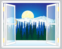 Beautiful view from window Royalty Free Stock Images