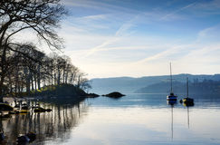Morning sunlight on Lake Windermere Royalty Free Stock Photo