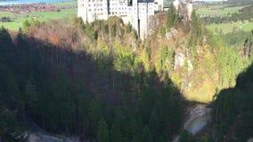 Beautiful view of world-famous Neuschwanstein Castle stock footage